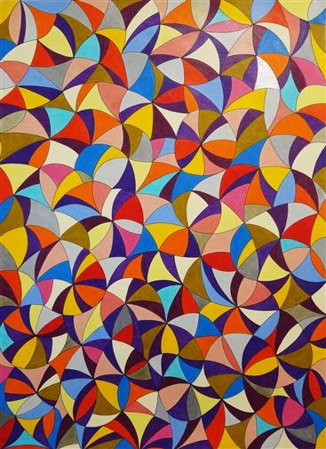 "Osvaldo Bacman. The Language of Geometry 15. Watercolor & Pencil 27.5"" x 20"""