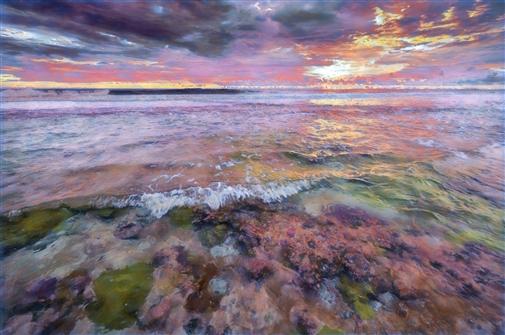 "Carol Brooks Parker. Fringing Reef #4 Wavelet AE - Suwarrow Atoll, Cook Islands Photograph on Fine Art Paper 16"" x 24"""