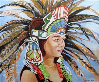 Headdress in Cuba