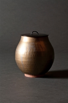 Round Covered Vase
