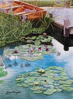 Water Lilies and Boat