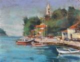 Croatian Harbor Repose