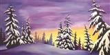Lavender Snowtrees