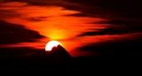 Sunset Behind Mount Monviso