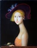 64H - Fanciulla con cappello e cardo