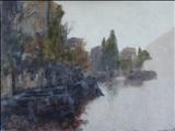 Misty morning, Varenna, Lake Como