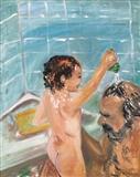 Bath Time Fun with Dad