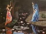Two Women in Night Light