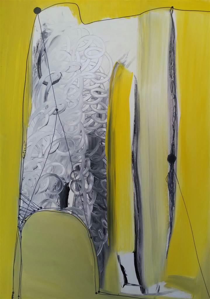 """Montseé. Equilibrium. Acrylic on Canvas 36"""" x 26"""""""