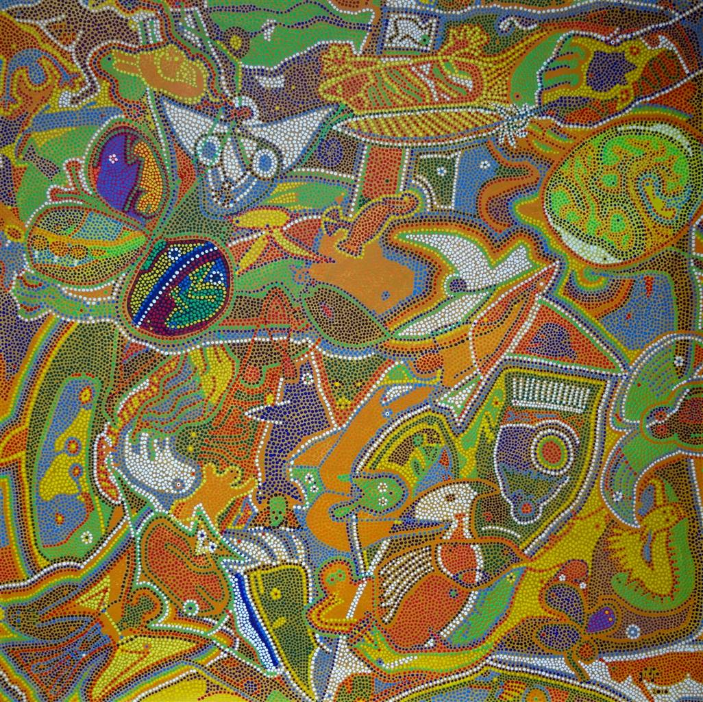 Image result for GIDJA Creates Abstract Paintings Inspired by Spirituality and Nature
