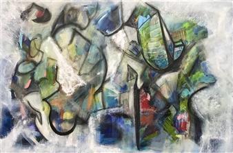 """Restraint Acrylic & Mixed Media on Canvas 24"""" x 36"""""""