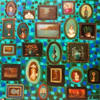 """Belle Maison Oil on Canvas 27.5"""" x 27.5"""""""