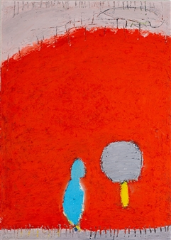 """Waiting - We See Us Oil on Canvas 28"""" x 20"""""""
