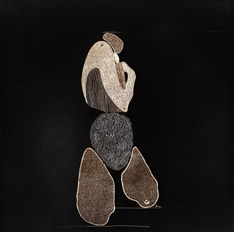 """A16 Hand Silver Engraving in Painted Aluminum 13"""" x 13"""""""