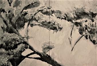 "Beihei Park Beijing Oil on Canvas 39.5"" x 55.5"""