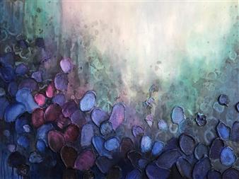 "Sea of Bloom Acrylic on Canvas 36"" x 48"""