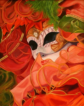 "Masquerade Oil on Canvas 33"" x 27.5"""