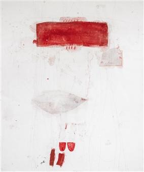"""Sommerkleid Gouache on Paper 47.5"""" x 39.5"""""""