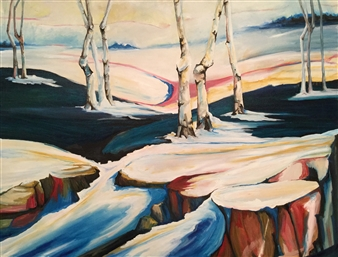 """Spring Thaw 2 Oil on Canvas 30"""" x 40"""""""