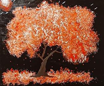 "Rose Tree Oil on Canvas 20"" x 24"""