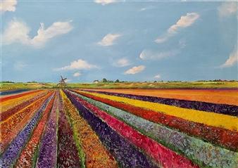 """Impressione Di Primavera  (Spring Impression) Oil on Canvas 19.5"""" x 27.5"""""""
