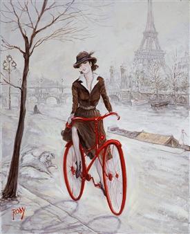 """Parisian Oil on Canvas 20"""" x 16"""""""