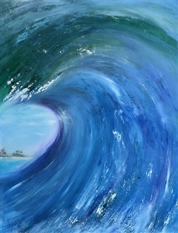 """Heavenly Pipeline Oil on Canvas 48"""" x 36"""""""