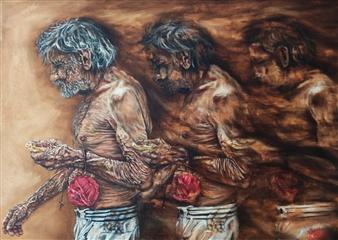 """La Lettura Invertita Sull´età Oil on Canvas 23.5"""" x 31.5"""""""