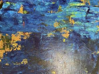 """Golden Island Acrylic on Canvas 35.5"""" x 35.5"""""""