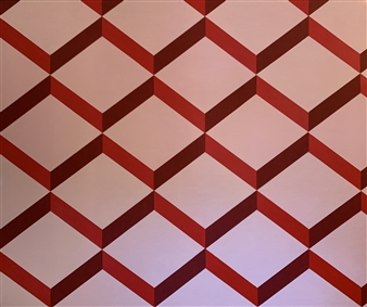 """The Contemporary #RED Acrylic on Canvas 60"""" x 72"""""""