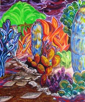 "Backyard Path Acrylic on Canvas 30"" x 24"""