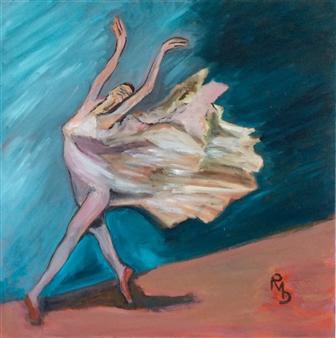 "Isidora en Extasse Oil on Canvas 27.5"" x 27.5"""