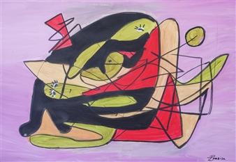 "The Couple Oil on Canvas 27.5"" x 39.5"""