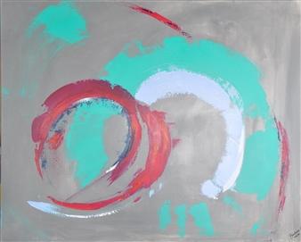 """Fraction Acrylic on Canvas 32"""" x 39.5"""""""