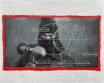 """Turbulence 2 Mixed Media on Board 16"""" x 20"""""""