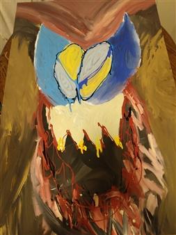 """The Owl Acrylic on Canvas 48"""" x 32"""""""