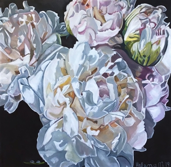 Waterdrops on Peonies 'Eleni'