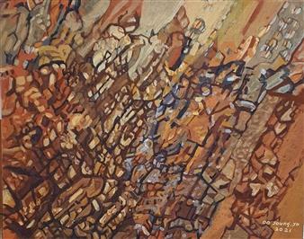 """Knar 1 Soil on Canvas 28"""" x 36"""""""
