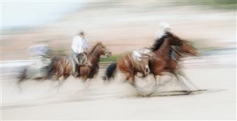 "Rodeo - 3 Photograph on Plexiglass 32"" x 62"""