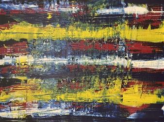 """Straight Ahead Wild Acrylic on Canvas 19.5"""" x 27.5"""""""