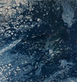 """Mother Ocean Acrylic on Canvas 12"""" x 12"""""""