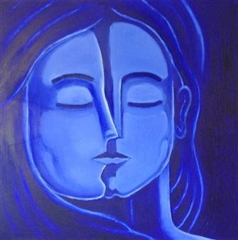 """Harmony Oil on Canvas 54"""" x 54"""""""