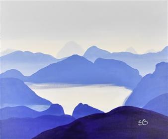 "Zenitude Acrylic on Canvas 20"" x 24"""