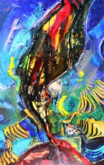 """The Sign Acrylic & Oil on Canvas 35.5"""" x 27.5"""""""
