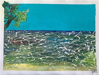"Orbs Acrylic on Paper 23"" x 30"""