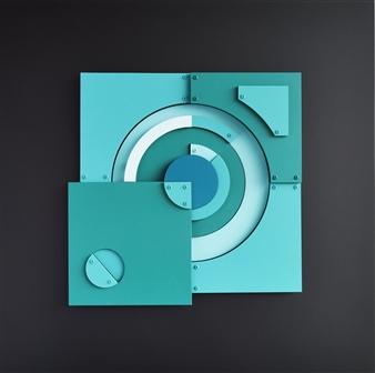 """Cronos Acrylic & Mixed Media 31.5"""" x 31.5"""""""