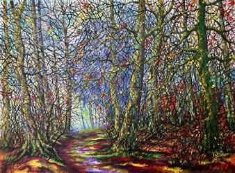 """Autumn Evening Acrylic on Canvas 16"""" x 23.5"""""""