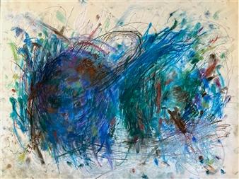 "Tangle 2  (Study) Pastel on Paper 18"" x 24"""