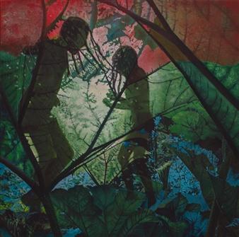 "Echoes Acrylic on Canvas 43.5"" x 43.5"""