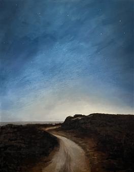 """Shadmoor at Night Oil on Canvas 30"""" x 24"""""""